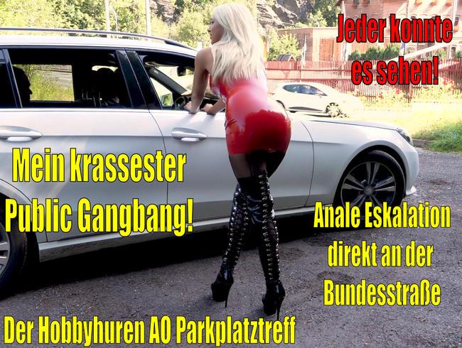 Video Thumbnail Mein krassester Public Gangbang DIREKT an der Bundesstrasse   Anale Eskaltion am Hobbyhuren Treff!