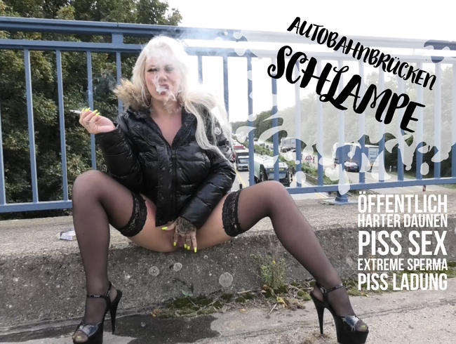 Video Thumbnail Autobahnbrückenschlampe | öffentlich harter Daunen Piss Sex | extreme Sperma Piss Ladung