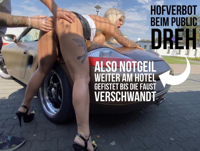 Video Thumbnail Hofverbot ! Drehabbruch beim Public Dreh | Notgeil weiter am Hotel gefistet | bis die Faust verschwa