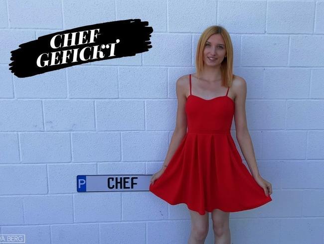 Eva-Berg - Creampie vom CHEF! Nach der Arbeit mit Anal-Plug überrascht!