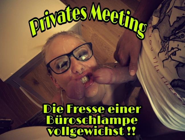 Video Thumbnail Privates Meeting... Die Fresse einer Büroschlampe vollgewichst
