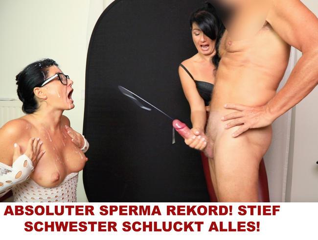 Video Thumbnail ABSOLUTER SPERMA REKORD! STIEF SCHWESTER SCHLUCKT ALLES!