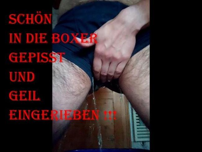 Video Thumbnail Schön in die Boxer gepisst und anschließend damit saftig glänzend eingerieben !!!