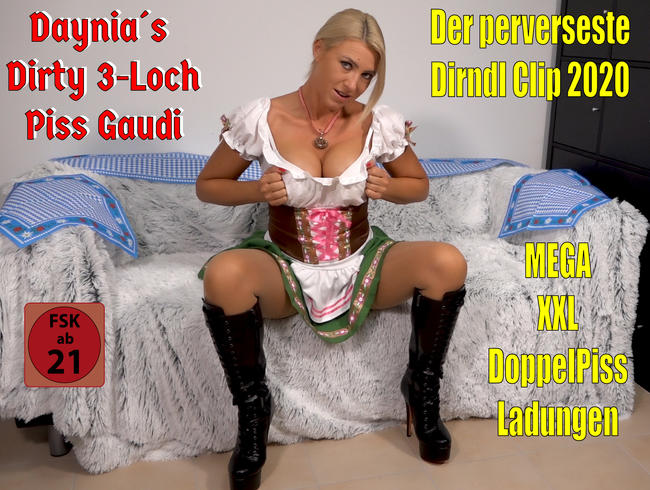 Video Thumbnail Der perverseste Dirndl Clip 2020 | Daynia´s Dirty 3Loch Piss Gaudi! O´PISST is...