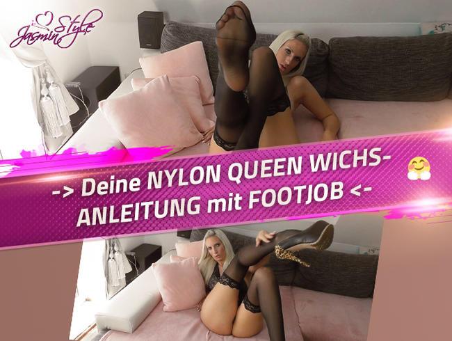 Video Thumbnail -> Deine NYLON QUEEN WICHSANLEITUNG mit FOOTJOB