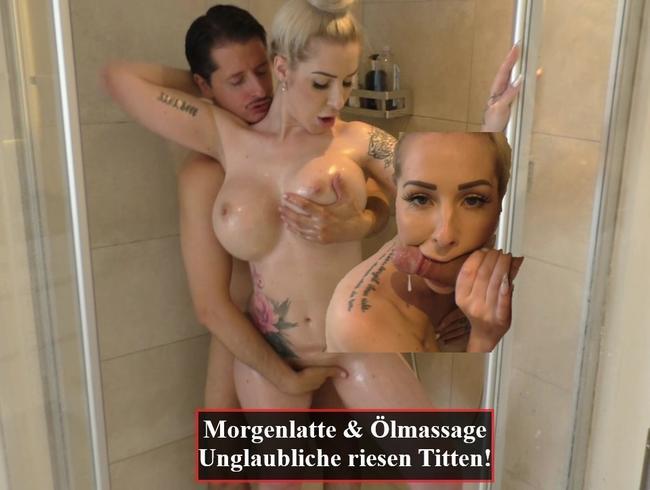 Video Thumbnail Morgenlatte unter der Dusche... Erst Ölmassage dann Ficksosse im Mund