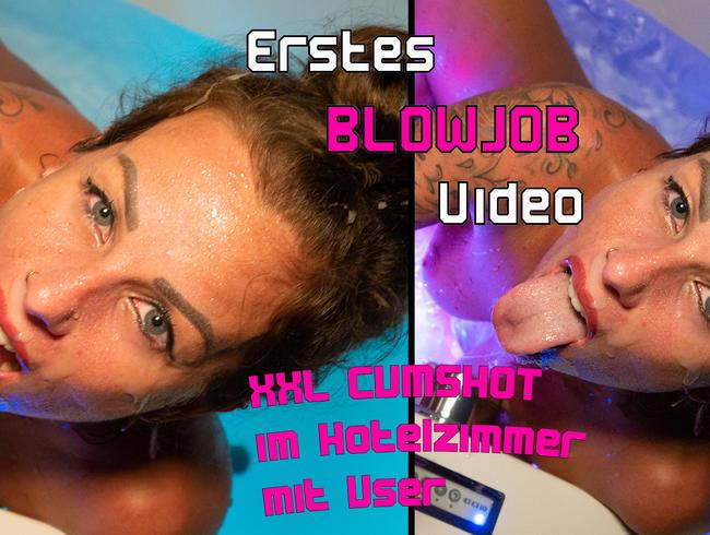 Video Thumbnail Mein ERSTER BLOWJOB vor der Cam mit XXL Cumshot