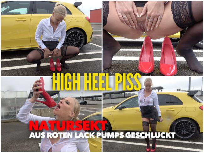Video Thumbnail PISS Abfüllung in Heels | Natursekt aus roten Lack Pumps geschluckt