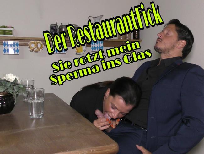 Video Thumbnail Der Restaurantfick... Sie rotzt meine Spermaladung ins Glas