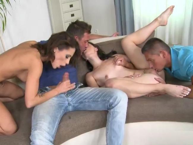 Video Thumbnail Geiles 4er Sex Orgie