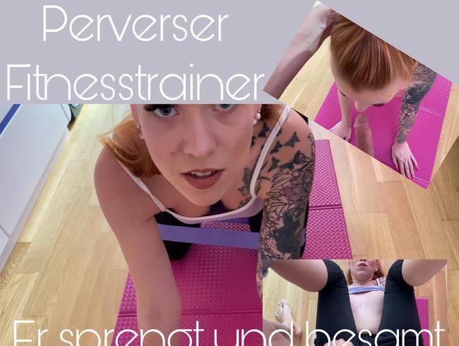 Video Thumbnail Perverser Fitnesstrainer - Er sprengt und besamt meine Fotze!