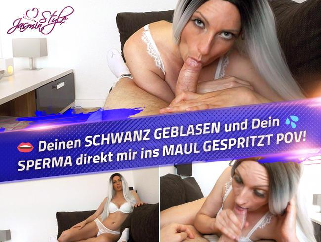 Video Thumbnail Deinen SCHWANZ GEBLASEN und Dein SPERMA direkt mir ins MAUL GESPRITZT POV!