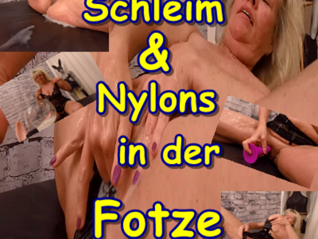 Video Thumbnail Sperma Schleim & Nylons in der Fotze