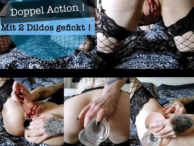 Video Thumbnail Doppel Action ! Mit 2 Dildos gefickt!