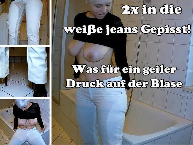 Video Thumbnail 2x in die weiße Jeans gepisst!