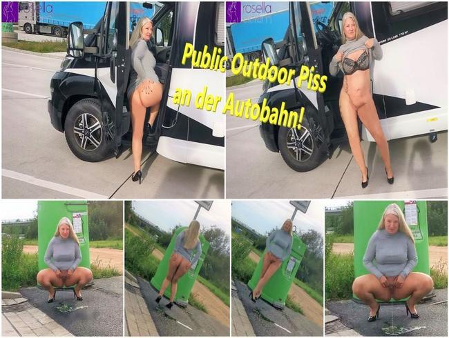 RosellaExtrem - Public Outdoor Piss an der Autobahn!