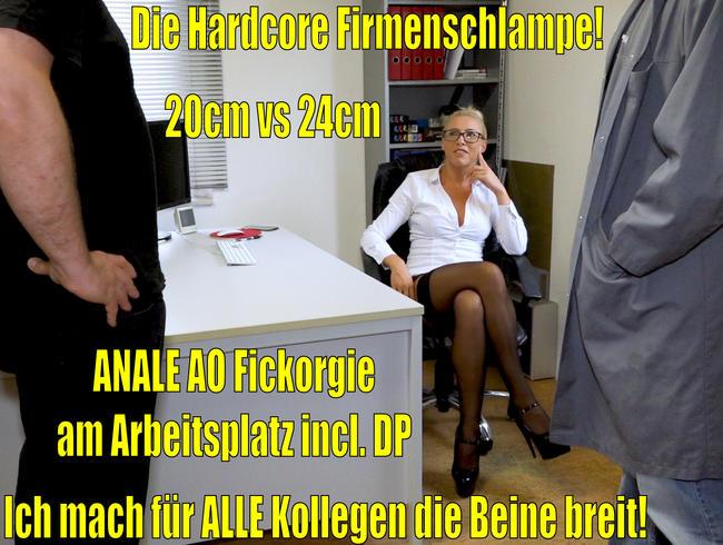 Video Thumbnail Die Hardcore Firmenschlampe | Anale AO Dreier Fickorgie am Arbeitsplatz incl. DP!
