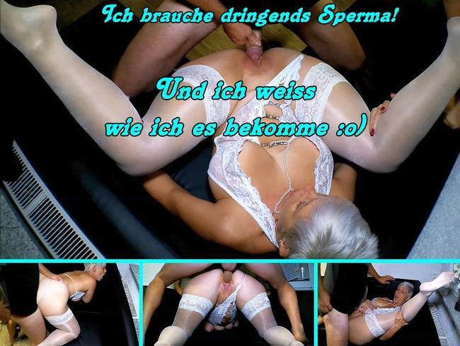 Video Thumbnail Die Stiefel und Nylon Schlampe braucht Sperma!