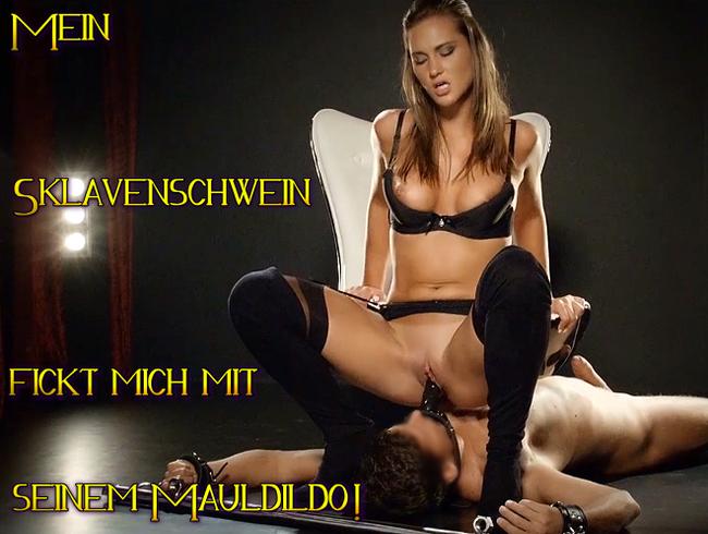 Video Thumbnail Mein Sklavenschwein fickt mich mit seinem Mauldildo!!!