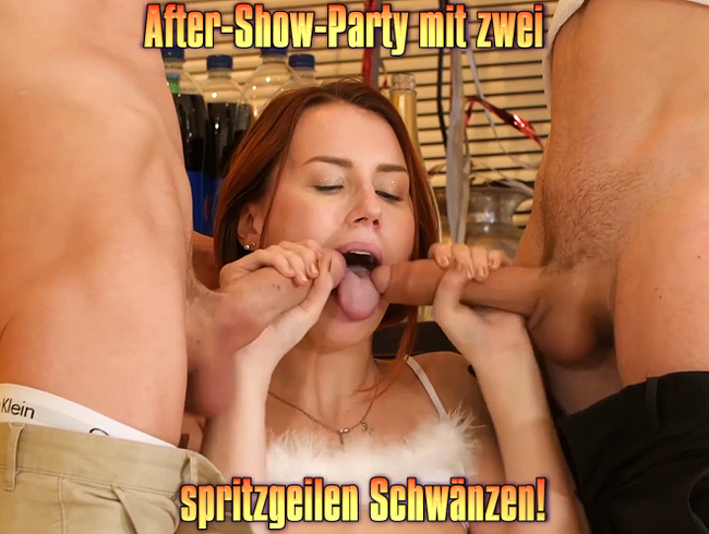 Video Thumbnail After-Show-Party mit zwei spritzgeilen Schwänzen!