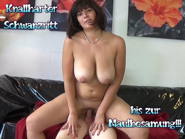 Video Thumbnail Knallharter Schwanzritt bis zur Maulbesamung!!!