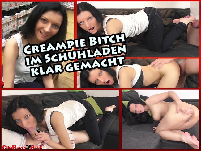 Video Thumbnail Creampie Bitch im Schuhladen klar gemacht