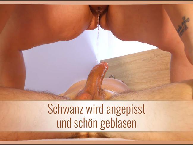 Video Thumbnail Schwanz wird angepisst und schön geblasen