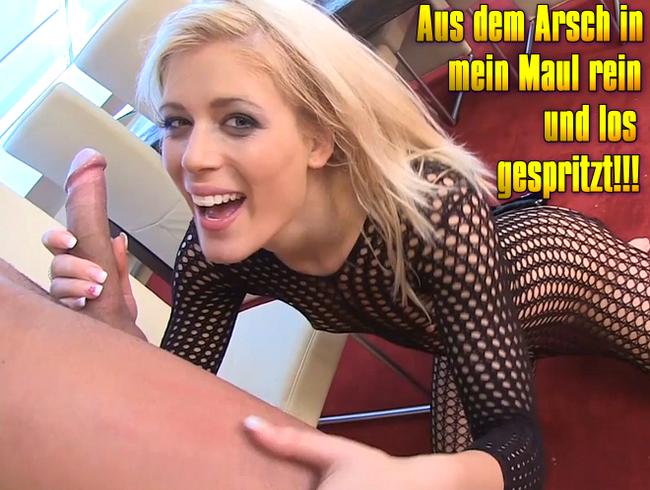 Video Thumbnail Aus dem Arsch in mein Maul rein und los gespritzt!!!