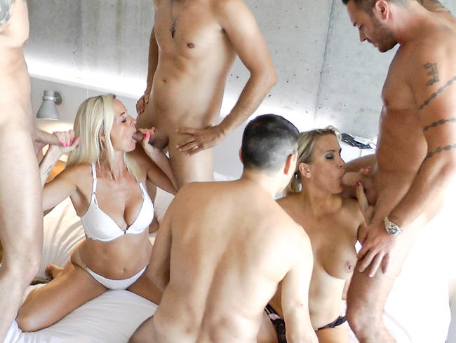 Video Thumbnail Gangbang-Orgie mit Dirty-Tina und JuliaPink