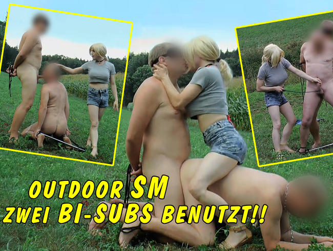 Video Thumbnail Outdoor SM Session: zwei Bi-Sklaven benutzt!