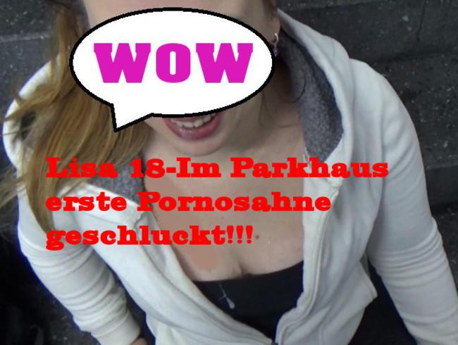 Video Thumbnail Lisa 18 Im Parkhaus erste Pornosahne geschluckt!