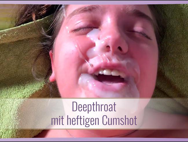 Video Thumbnail Deepthroat mit heftigen Cumshot