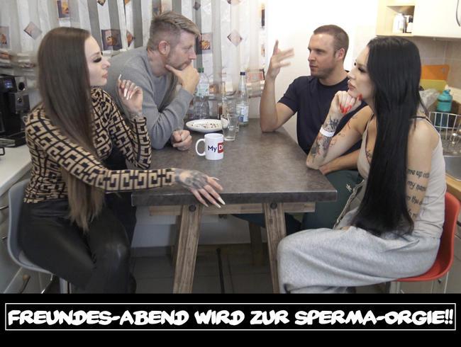 Video Thumbnail Freundes-Abend wird zur Sperma-Orgie!!