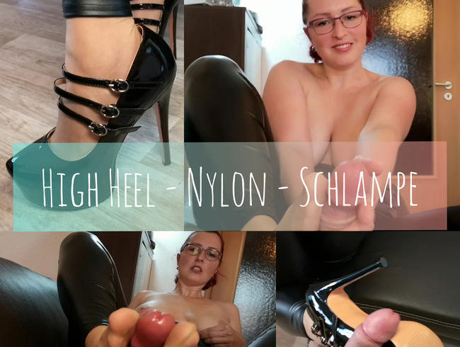 Video Thumbnail Nylon Schlampe und Highheels.... Dirty Talk Footjob