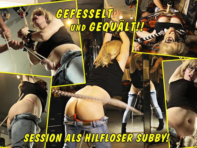 Video Thumbnail Gefesselt und gequält - meine Session als hilfloser Subby!