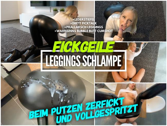Video Thumbnail Leggings Schlampe | Beim putzen ZERFICKT und VOLLGESPRITZT
