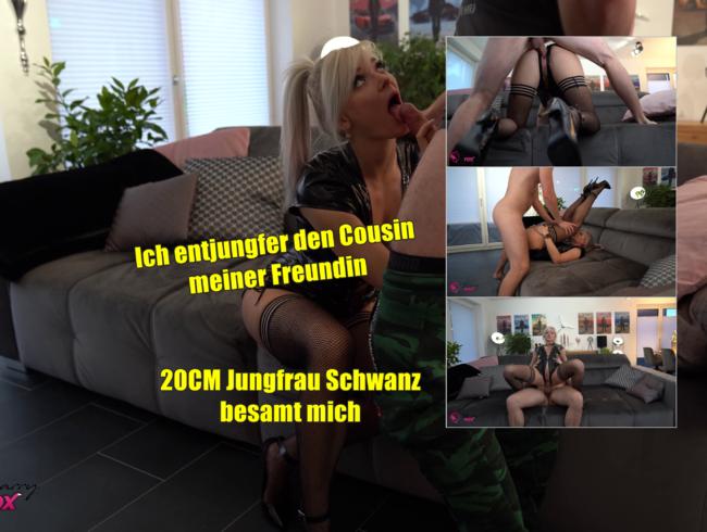 Video Thumbnail 20cm Jungfrau Schwanz besamt mich. Cousin meiner Freundin AO-entjungfert.