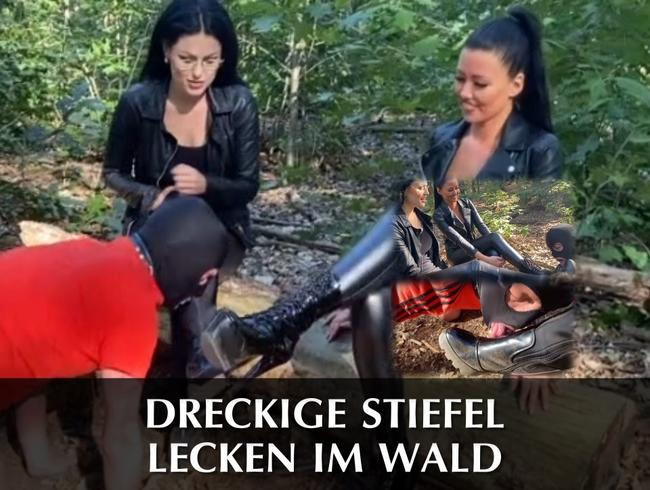 Video Thumbnail Dreckige Stiefel lecken im Wald
