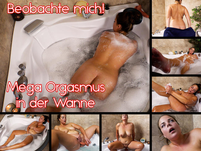 Video Thumbnail Beobachte mich! Mega Orgasmus in der Wanne