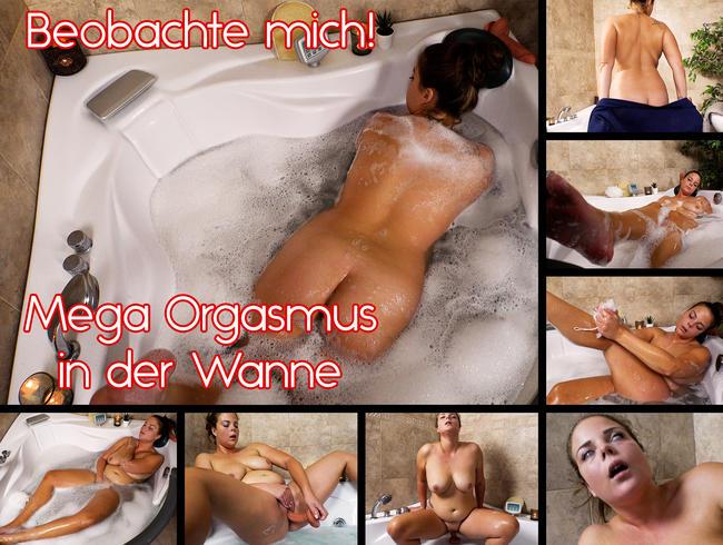 Video Thumbnail Beobachte mich! Mega Orgasmus in der Wanne