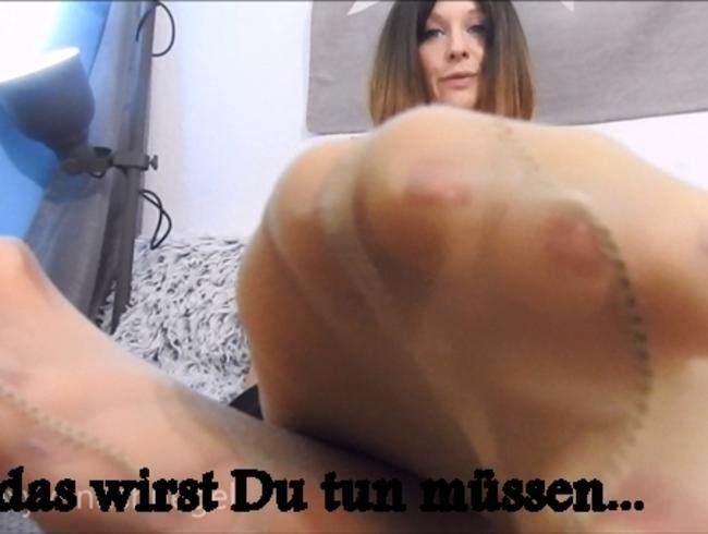 Video Thumbnail Knie zu meinen Nylonfüßen Cuckold