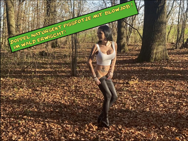 Video Thumbnail Doppel Natursekt Pissfotze mit Blowjob ! Im Wald erwischt!