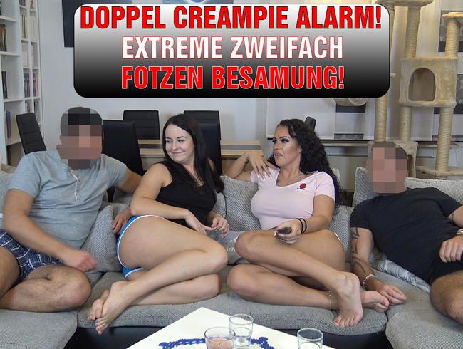 EmmaSecret - DOPPEL CREAMPIE ALARM! EXTREME ZWEIFACH FOTZEN BESAMUNG!
