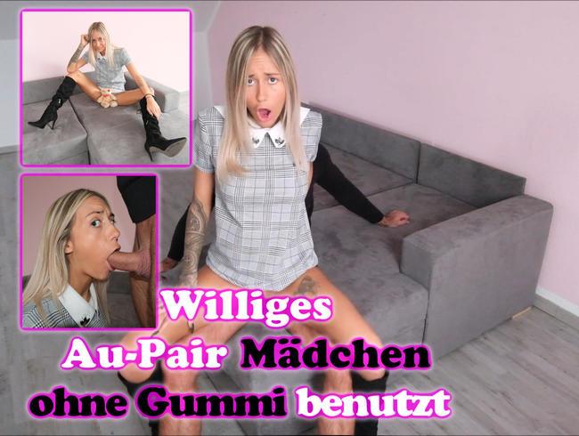 SkinnyBitch99 - 18 Jähriges Au-Pair Mädchen verführt den Hausherren