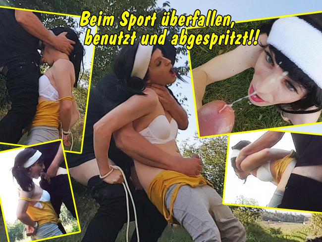 Video Thumbnail Beim Sport überfallen, benutzt, gefickt und vollgespritzt