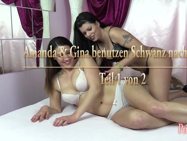 Video Thumbnail Amanda und Gina benutzen einen Schwanz nach versautem Bi-Spiel - Teil 1 von 2