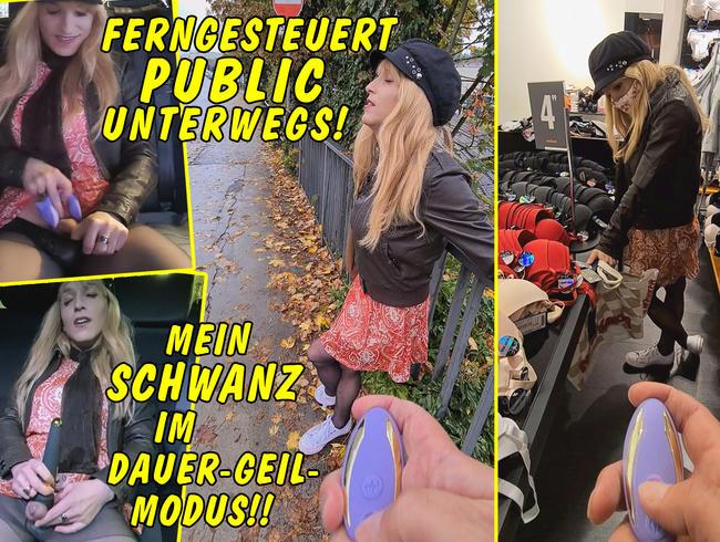 Video Thumbnail Ferngesteuert public unterwegs!! Mein Schwanz im Dauer-Geil-Modus!!