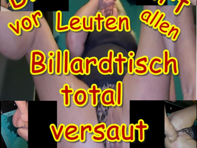 Video Thumbnail Dreist Squirt vor allen Leuten Billardtisch total versaut
