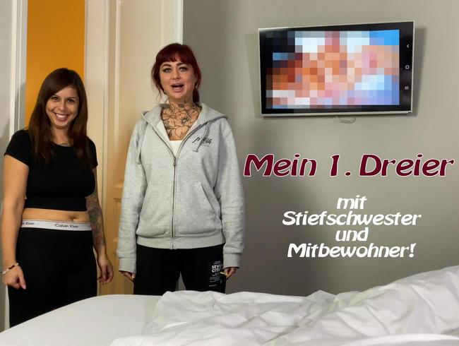 Video Thumbnail Mein 1. Dreier mit Stiefschwester und Mitbewohner