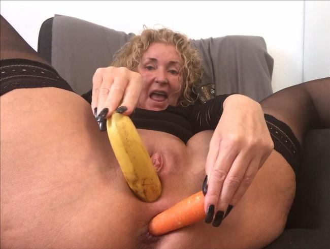 Video Thumbnail USERWUNSCH!!! PERVERSE GEMÜSE DOPPELPENETRATION! Bananen Pussy? Gurke anal?
